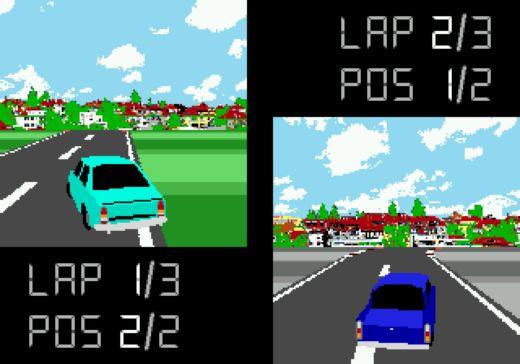 MREGA-MD, zahrajte si novou závodní hru pro Mega Drive