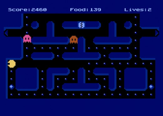 Pac-Mad, požírač puntíků pro Atari 800 XL/XE