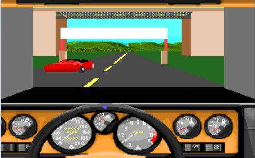 Palubní desky aut z 10 DOSových závodních her