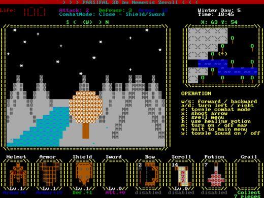 Parsifal 3D, nová dobrodružná hra pro DOS