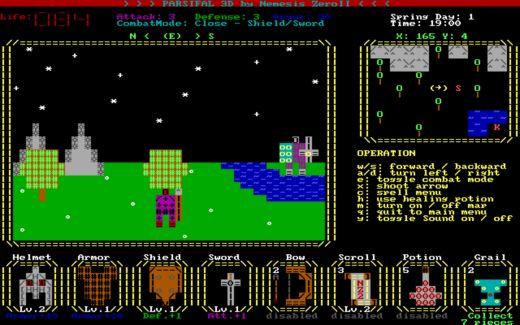 Parsifal 3D – ASCII artové jakože retro