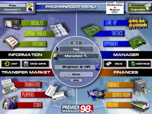 Premier Manager 98 – fotbalový Olymp čeká
