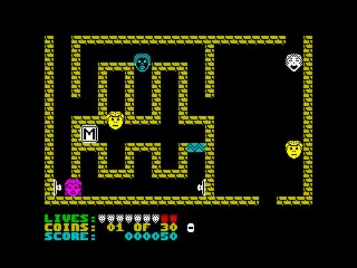 Quahappy, mysteriózní dobrodružná hra pro ZX Spectrum