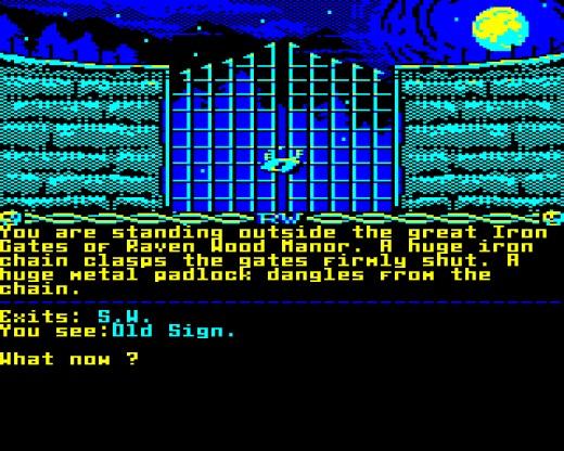 The Darkness of Raven Wood, strašidelná textovka pro BBC Micro / Acorn Electron