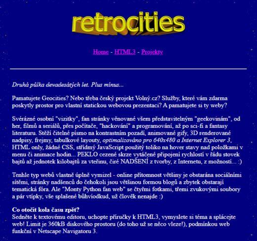 Retrowebová výzva: povolejte Netscape Navigator