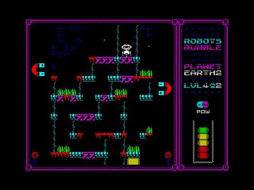 Robot Rumble, taktická plošinovka pro ZX Spectrum