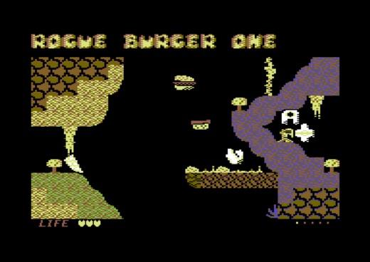 Rogue Burger One, bludišťovka pro Commodore 64