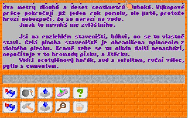 Saboteur – jedna starší textovka