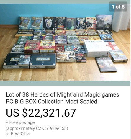 Sběratelství her a big boxů – předražené aukce