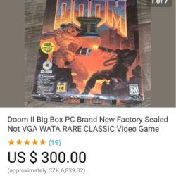 Sběratelství her a big boxů - předražené aukce