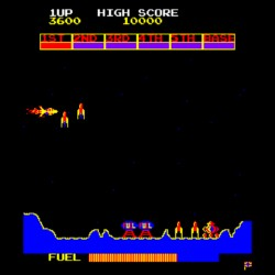 Scramble, arkádová klasika portovaná na Amstrad CPC