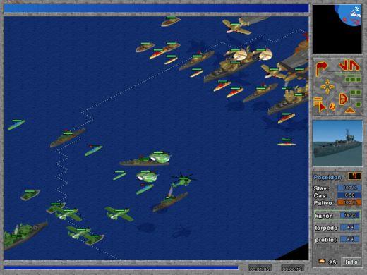 Námořní bitva ve hře Signus