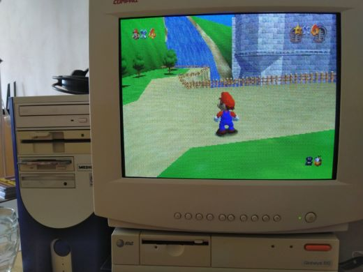 Super Mario 64 port pro DOS