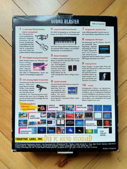 Krabice: Sound Blaster 2.0 CT1350B