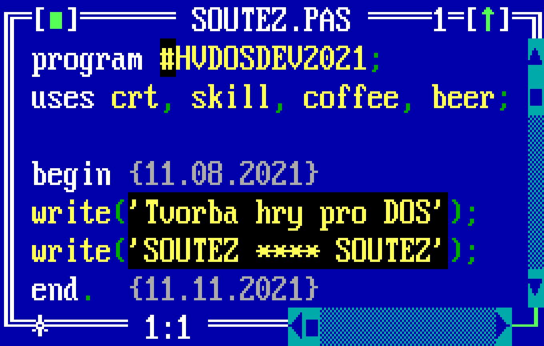 tvorba hry pro DOS