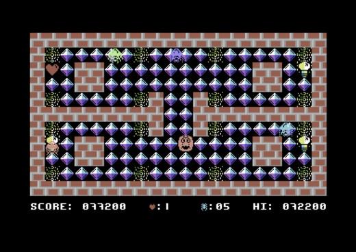 Spider Maze, bludišťovka pro Commodore 64