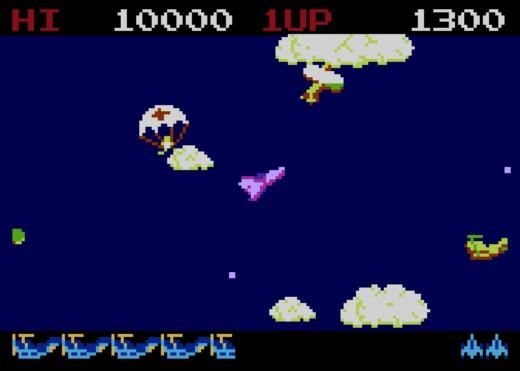 Time Pilot, z automatů na Atari XE/XL