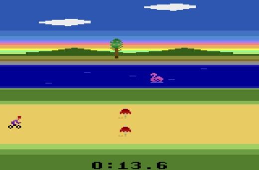 Tyre Trax, jízda na kole pro Atari 2600