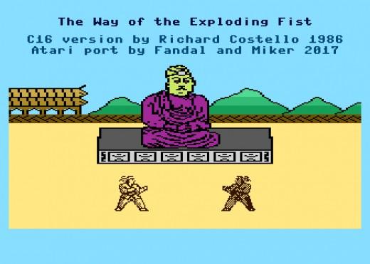 The Way of the Exploding Fist nově pro osmibitová Atari