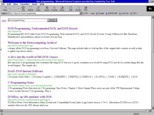 wiby.me – internet dob minulých aneb vyhledávač pro digitální archeology