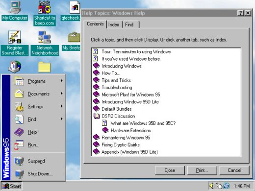 TIP na dlouhé večery: Windows 95D Lite