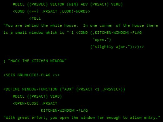 Mrkněte na zdrojové kódy hry Zork (1977)